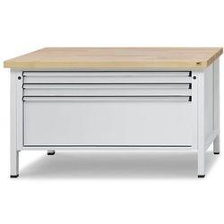 Stół warsztatowy z szufladami XL/XXL, szer. 1500 mm, 3 szuflady, blat z litego b