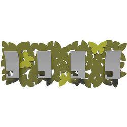 Wieszak ścienny Butterflies CalleaDesign oliwkowo-zielony