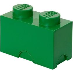 Lego®  pudełko 12x25x18 cm, ciemnozielony