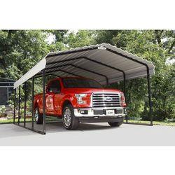 Dwuspadowa wiata garażowa z metalu carport 3,7 x 6,1 m marki Arrow