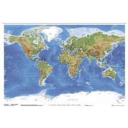 Fizyczna Mapa Świata z Podziałem Politycznym - plakat, gb