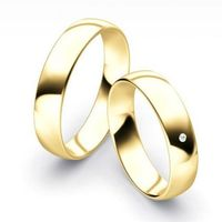 Obrączki goldendreams Klasyczne obrączki półokrągłe z brylantem model z35p1 (komplet)