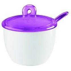 Guzzini - gocce - cukiernica z łyżeczką, fioletowy - fioletowy