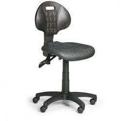 Krzesło PUR, asynchroniczna mechanika, do miękkich podłóg