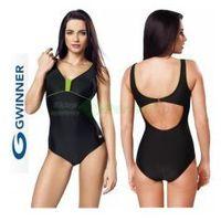 Gwinner Anika strój kąpielowy czarny/zielony  + czepek | wysyłka 24h