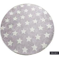 dywan do pokoju dziecięcego dinkley yildiz szary średnica 140 cm marki Selsey