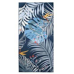 Ręcznik plażowy TROPICAL 80x160 wzór granatowe liście