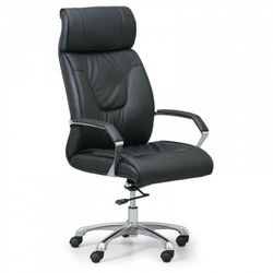 B2b partner Krzesło biurowe lux, skóra, czarny