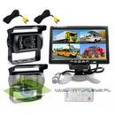 2x kamera cofania monitor 7 cali podziałka quad ir marki Virtualeye