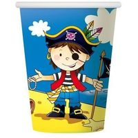 Kubeczki papierowe Pirat 6 sztuk