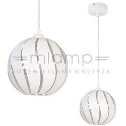 LAMPA wisząca GLOBUS SKOS 31004 Sigma ażurowa OPRAWA metalowa ZWIS kula ball z wycięciami biała
