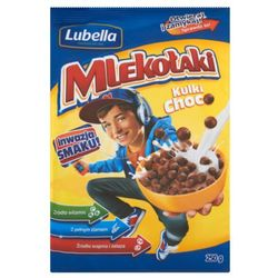 Lubella Mlekołaki Kulki Choco Zbożowe chrupki o smaku czekoladowym 250 g - sprawdź w wybranym sklepie