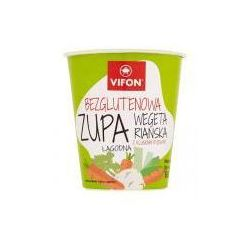 Zupa błyskawiczna bezglutenowa wegetariańska z kluskami ryżowymi 60 g vifon wyprodukowany przez Tan viet