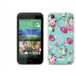 Fantastic Case - HTC Desire 320 - etui na telefon Fantastic Case - różyczki na miętowym tle (Futerał telef