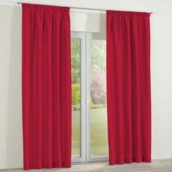Dekoria zasłona na taśmie marszczącej 1 szt., scarlet red (czerwony), 1szt 130x260 cm, cotton panama