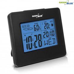 stacja pogody zegar kalendarz fazy księżyca gb144 black marki Greenblue