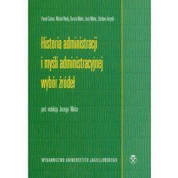 Historia administracji i myśli administracyjnej Wybór źródeł