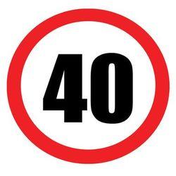 Dekoracyjny jadalny opłatek tortowy Znak zakazu na urodziny - 20 cm