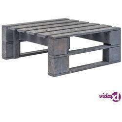 Vidaxl stołek ogrodowy z palet, drewno fsc, szary (8718475717133)
