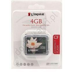 Kingston  cf/4gb compactflash cf standard karta pamięci 4gb, kategoria: pozostałe komputery