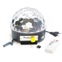 Projektor kula dyskotekowa LED MP3 z odtwarzaczem muzyki + pilot