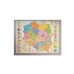 Podkładka na biurko - Mapa administracyjna Polski - Wysyłka od 3,99 - porównuj ceny z wysyłką (mapa szkolna) od niePrzeczytane.pl księgarnia internetowa