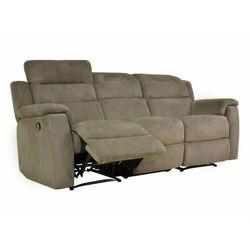 Sofa 3-osobowa typu relaks simono z mikrofibry — taupe marki Vente-unique