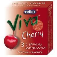 Reflex  viva cherry prezerwatywy czerwone o zapachu wiśni 3 sztuki