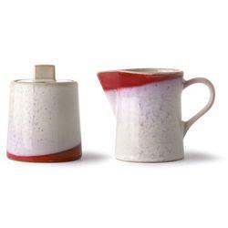ceramiczny dzbanek do kawy i cukiernica 70's: frost ace6921 marki Hkliving