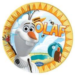 Talerzyki urodzinowe Olaf - Frozen - Kraina Lodu - 23 cm - 8 szt. (5201184846216)