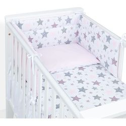 Mamo-tato ochraniacz do łóżeczka 60x120 starmix różowy / koordynat róż