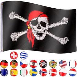 Flagmaster ® Flaga piracka bandera piratów 120x80 cm na maszt