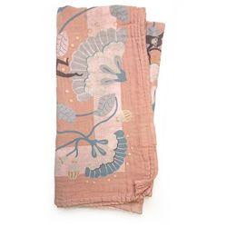 Elodie details - kocyk bambusowy - faded rose bells