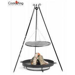 Cookking Zestaw grill stal czarna + palenisko malta - 4 rozmiary