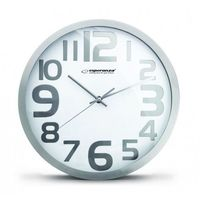 Esperanza  zegar ścienny hongkong biały (ehc012w) darmowy odbiór w 21 miastach!