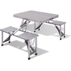 Vidaxl  aluminiowy stół piknikowy