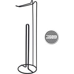 Stojak na papier toaletowy Bathroom solutions czarny, 15 x 54 cm