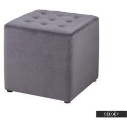 Selsey pufa bryan velvet szara (5903025211206)
