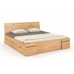Łóżko drewniane bukowe z szufladami SPARTA Maxi & DR 120-200x200 (5902273653851)