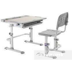 Fundesk Disa grey - ergonomiczne, regulowane biurko dziecięce + krzesełko - złap rabat: kod30