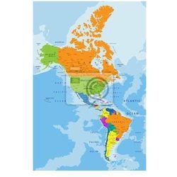 Fototapeta Kolorowe Americas mapa polityczna z wyraźnie oznakowanych, oddzielnych warstwach. Ilustracji wektorowych. - oferta [a5f54270f7d5d691]