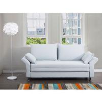 Sofa do spania jasnoniebieska - kanapa - rozkładana - wypoczynek - EXETER, kolor niebieski