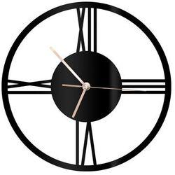 Zegar z pleksi na ścianę Rzymskie cyfry ze złotymi wskazówkami (5907509936173)