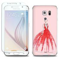 Full Body Slim Fantastic - Samsung Galaxy S6 - etui na telefon Full Body Slim Fantastic - czerwona suknia, ETS
