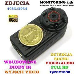 Spy electronics ltd. Mikro-kamera dz.-noc nagrywająca obraz hd/full hd i dźwięk + detekcja...