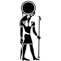 Szablon malarski z tworzywa, wielorazowy, wzór etniczny 29 - ra bóg słońca marki Szabloneria