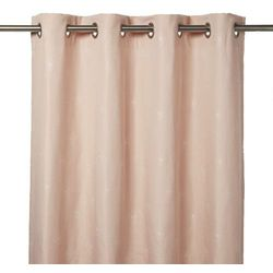 Zasłona GoodHome Melfi 140 x 260 cm różowa
