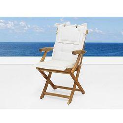 Komfortowa beżowa poducha do krzesła java marki Beliani