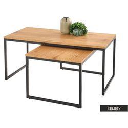 SELSEY Zestaw stolików kawowych Meleri 100x50 cm i 80x50 cm (5903025250038)