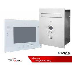 Zestaw skrzynka na listy z wideodomofonem. monitor 7'' s551-skp_m670w marki Vidos